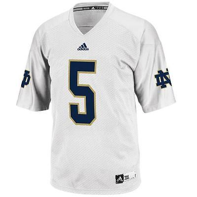 Notre Dame Fighting Irish #5 NCAA Adidas Youth White Premier Football Jersey