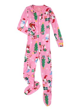 The Children's Place Baby Girls & Toddler Girls Zip-Up Footed Stretch Pajamas