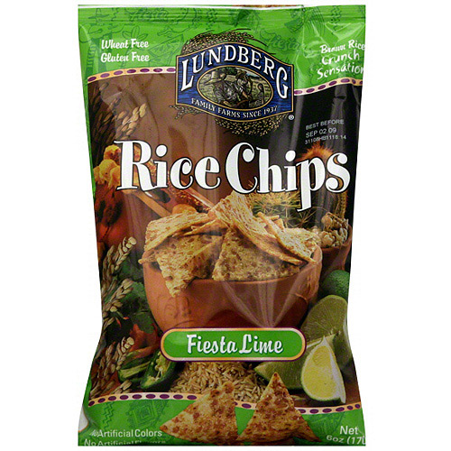 Lundberg Family Farms Fiesta Lime Chips, 6 oz (Pack of 12)