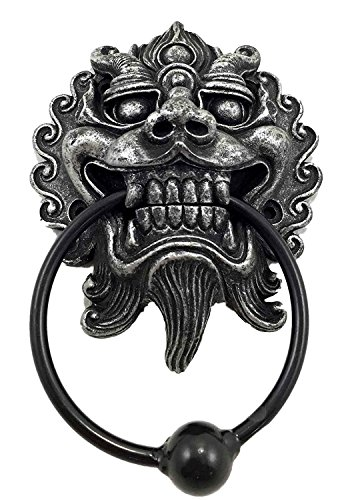 Far East Oriental Ryujin Japanese Dragon Door Knocker Figurine Resin With  Metal