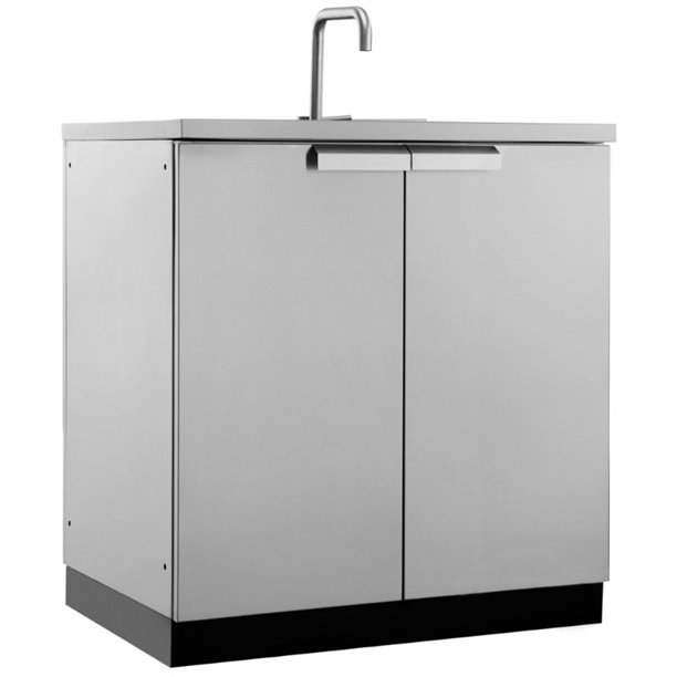 Newage Outdoor Kitchen Sink Cabinet In Stainless Steel Classic Walmart Com Walmart Com