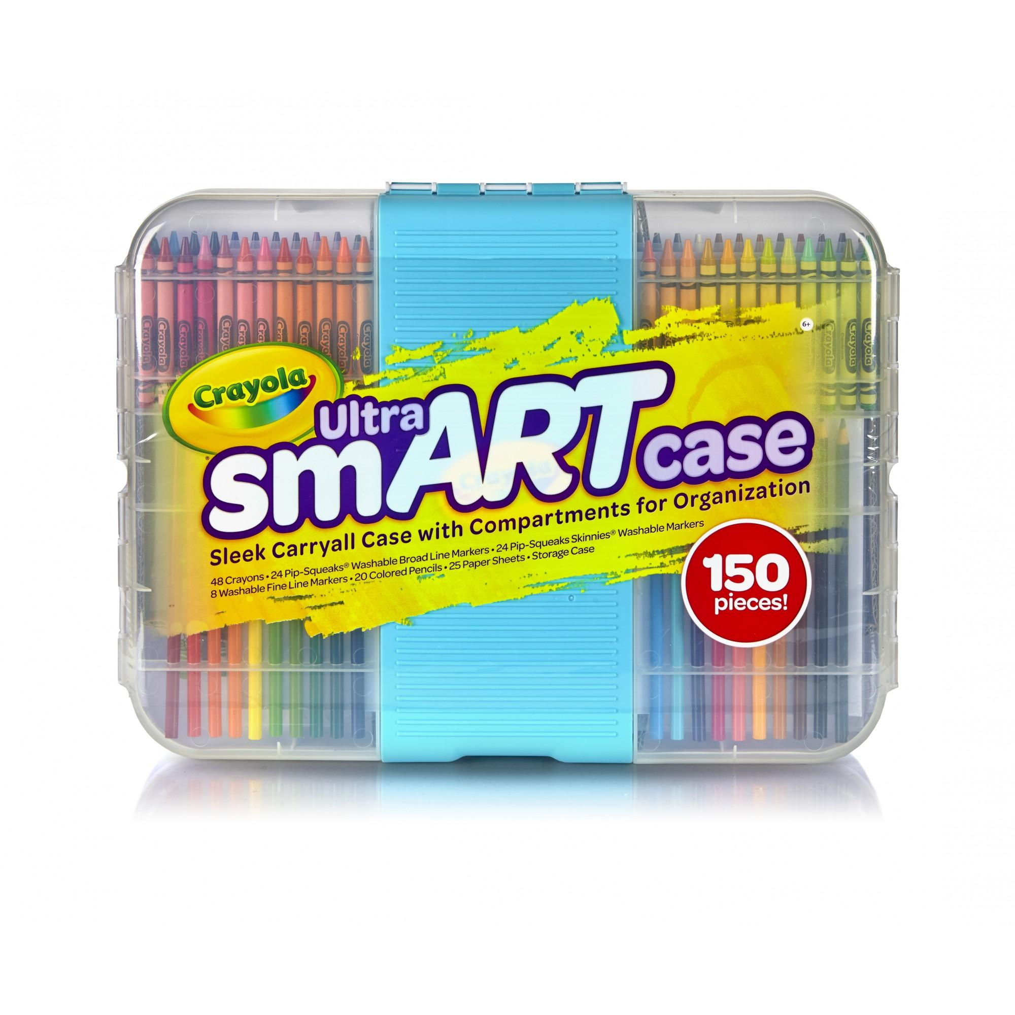 Crayola Ultra Smart Case, Coloring And Art Supplies, 150 Pieces