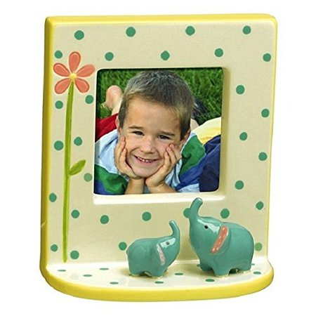 Cute Elephant Figures Mini Picture Frame for 2.5 x 2.5 Photo, Elephant Photo Frame for 2.5 Inch Square Photo By Grasslands Road