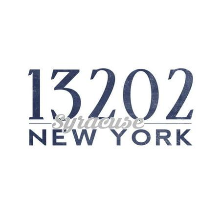 Syracuse, New York - 13202 Zip Code (Blue) Print Wall Art By Lantern Press](Party City Syracuse New York)