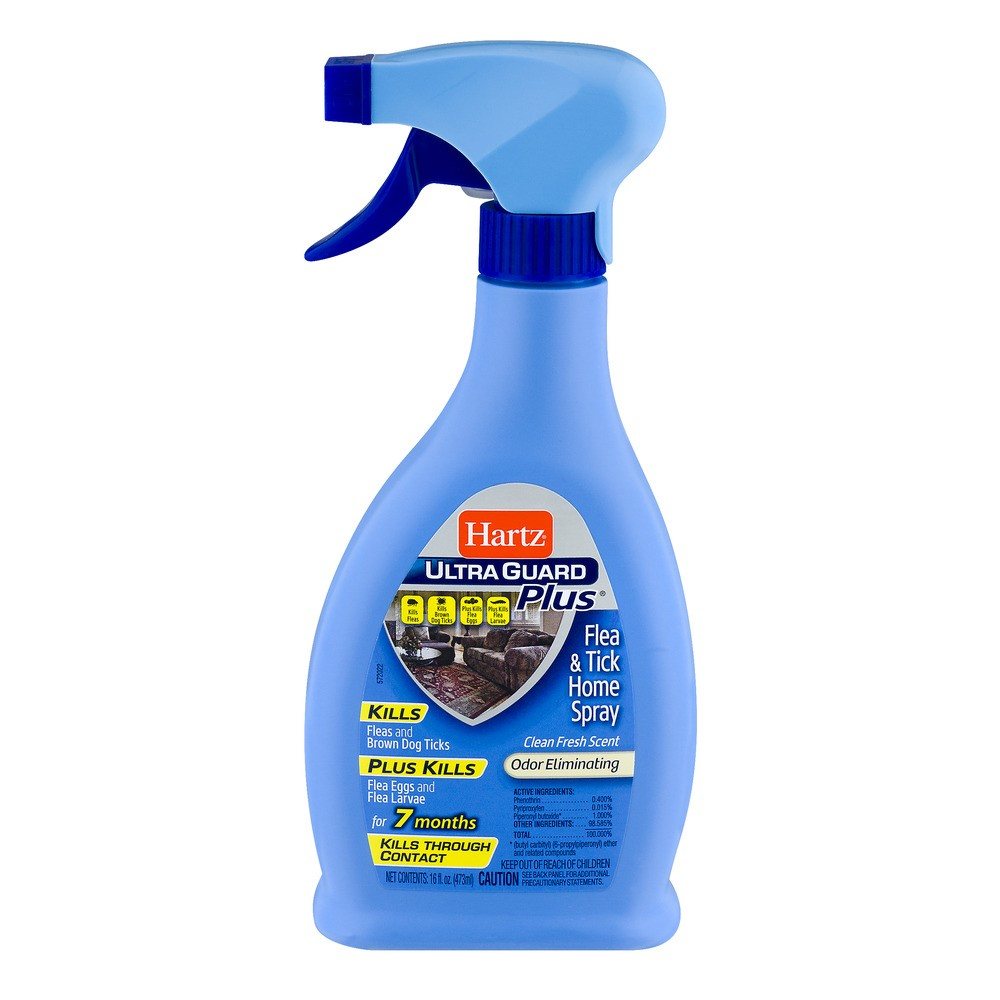 Hartz Ultra Guard Plus Flea & Tick Home Spray Clean Fresh Scent, 16.0 FL OZ