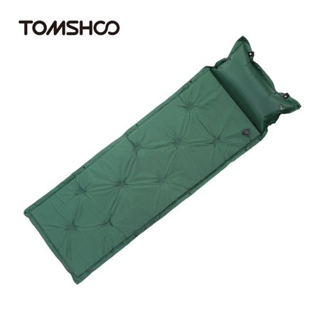 TOMSHOO Outdoor Camping Thick Automatic Inflatable Mattress Self-Inflating Tent Mat Picnic Mat with Pillow ()