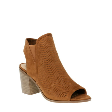 Women's Time And Tru Peep Toe Bootie