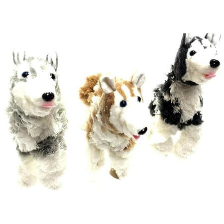 3 Marionette Husky Dog Puppets - 12