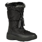 Alaska-01 Women Knee High Faux Fur Winter Snow Moon Boots Black