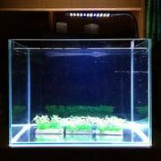 48 LED 2 Mode Aquarium Fish Plant Adjustable White  Light Lamp