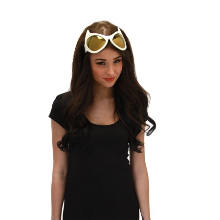 Cat Eye Goggles Adult Costume Accessory Yellow - Cat Eye Glasses Costume