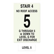 INTERSIGN NFPA-PVC1812(4GN5) NFPASgn,StairId4,FlrLvl5,FlrsSrvd1 to 5 G0264069