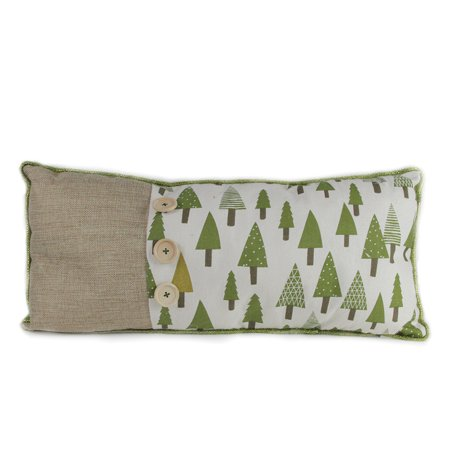 """20"""" Forest Green Tree Print Rustic Woodland Christmas Throw Pillow - image 1 of 1"""