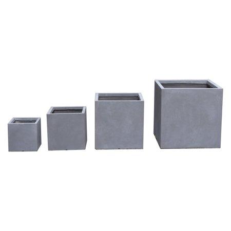 Kasamodern Modern Concrete Square Pot Planter