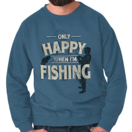 Happy When Fishing Funny Shirt | Sporting Goods Outdoor Gear Sweatshirt K2 Sporting Goods