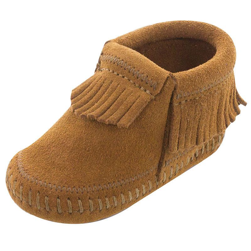 Minnetonka Boys Infants Riley Brown Suede Booties by MINNETONKA