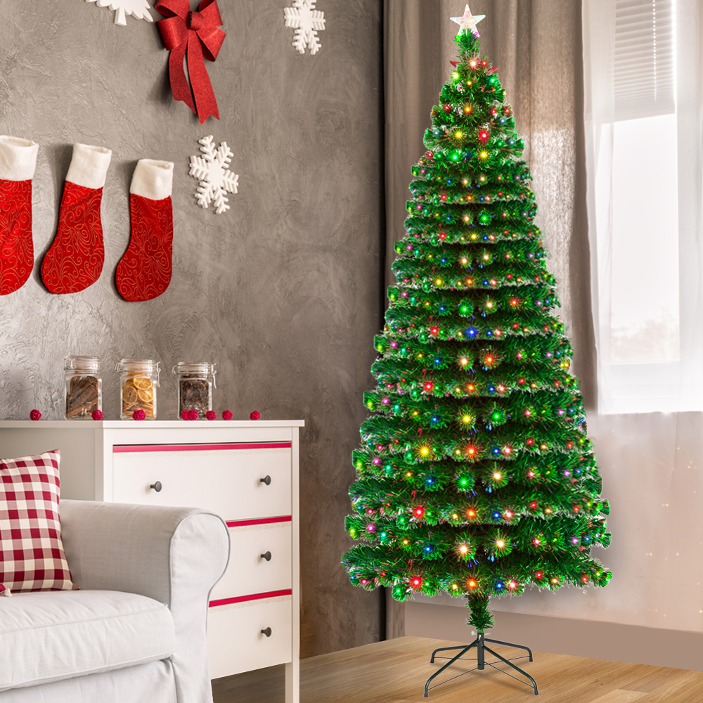"""Zimtown Artificial Christmas Tree 7.5 FT """"Feel Real"""" with ..."""