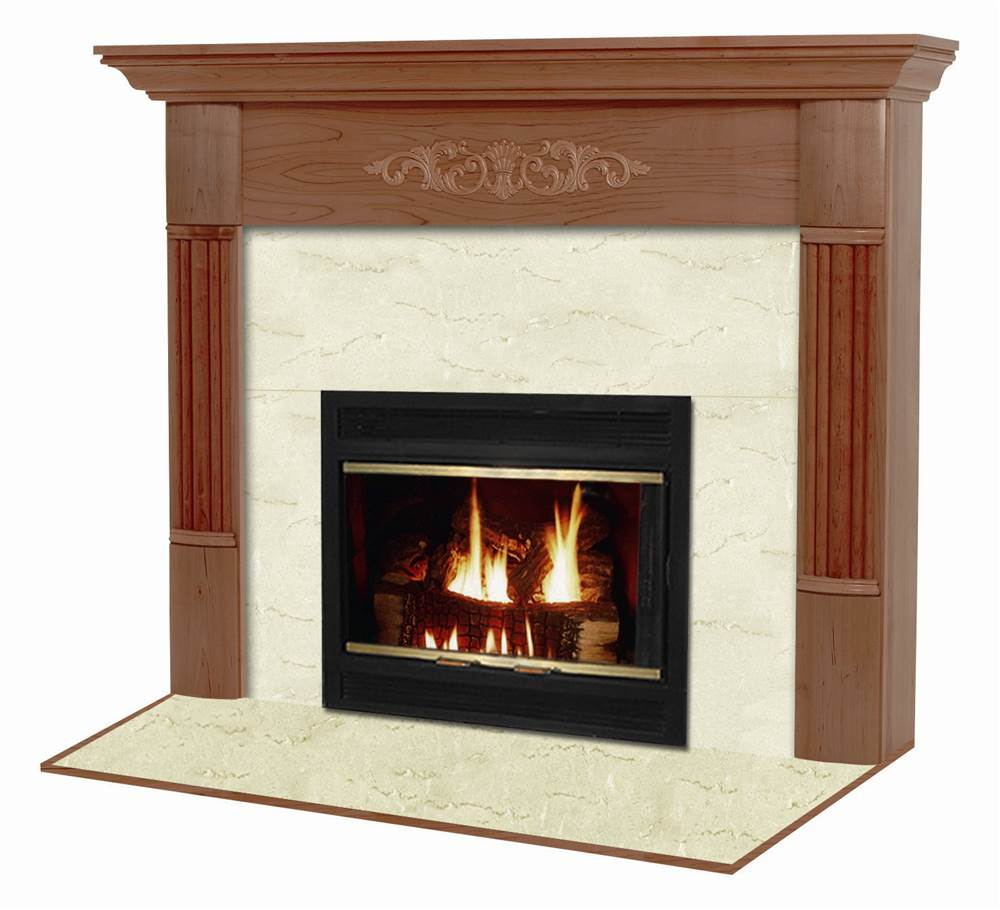 Viceroy Flush Fireplace Mantel in Traditional Mahogany Finish (Red Mahogany 40 in. x 48 in.)
