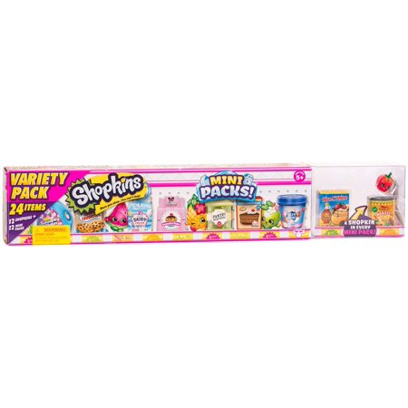 Season 10 Mini Pack - Mega Pack (24 Items), Miniature, real-life inspired packaging with a mystery Shopkin inside! By Shopkins Miniatures Huge Pack