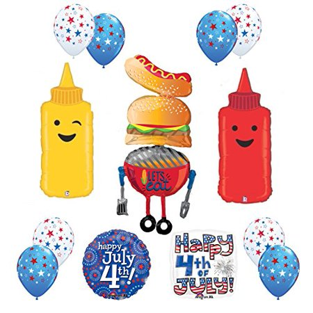Fourth Of July Bbq (4th of July Patriotic BBQ Party Balloon)
