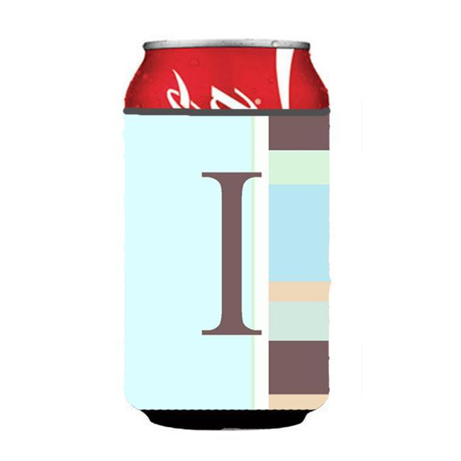 Carolines Treasures CJ1005-ICC Letter I Initial Monogram - Pink Stripes Can or Bottle  Hugger - image 1 of 1