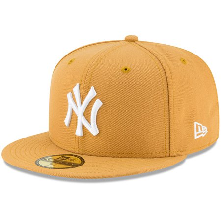 New York Yankees New Era Fashion Color Basic 59FIFTY Fitted Hat - Gold (Custom New Era Hats)