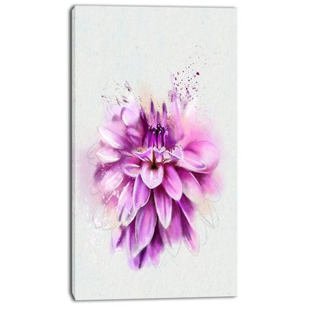 Design Art 'Beautiful Pink Watercolor Flower' Painting Print on Wrapped Canvas Nantucket Pink Print