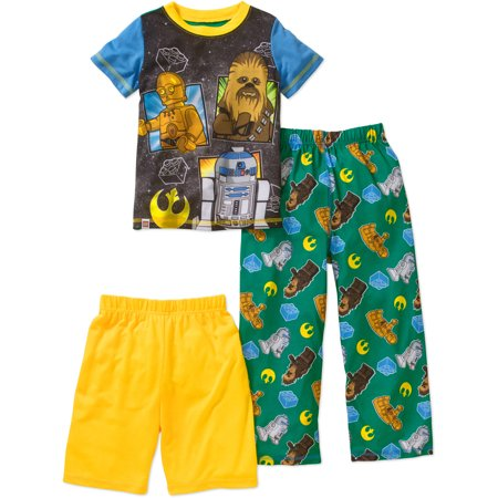 Lego Star Wars Boys' 3-Piece Sleepwear Set