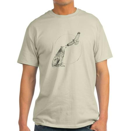 ad9bf8133011 CafePress - CafePress - Wolf And Hawk - Light T-Shirt - CP - Walmart.com