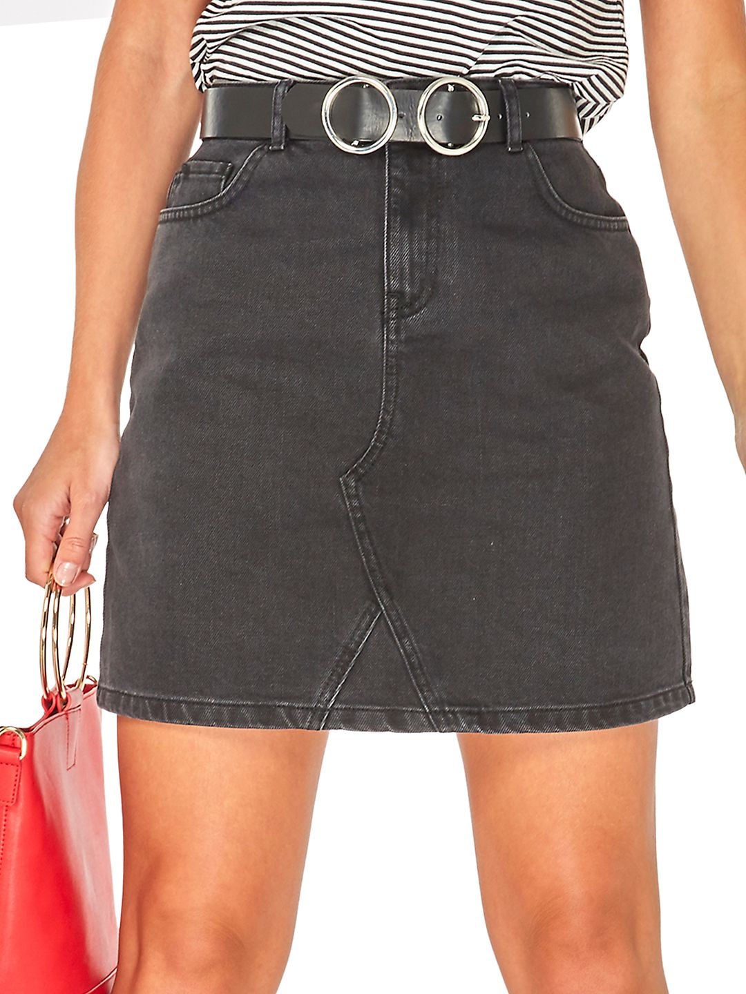 Belted Mini Skirt
