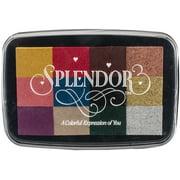 Splendor 12 Color Pigment Inkpad-Antique