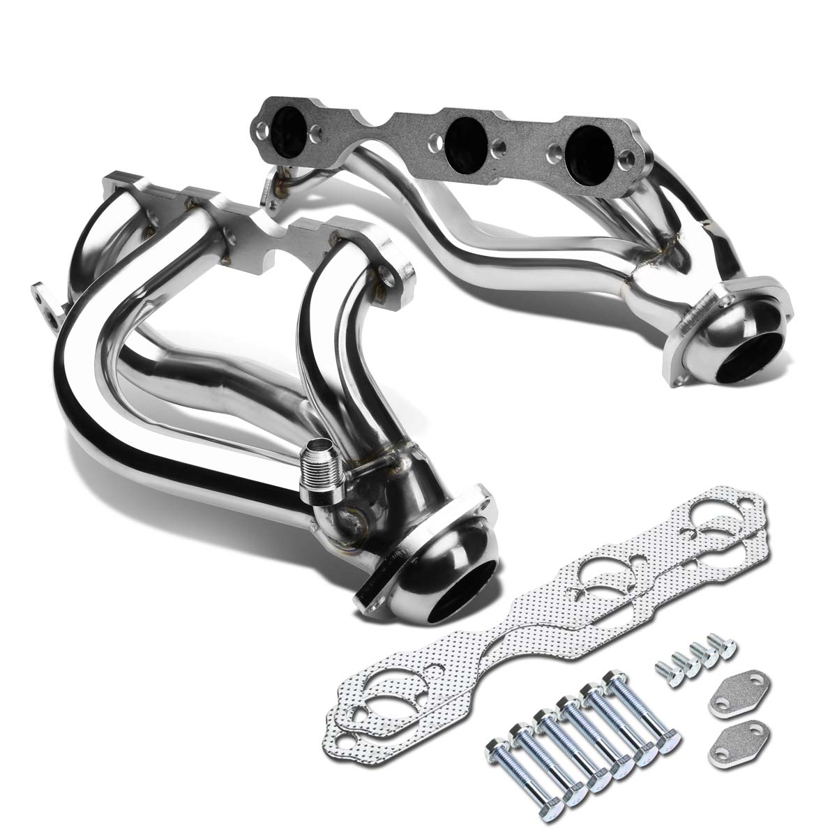 For 96-01 Chevy S10/Blazer 3-1 Design 2-PC Stainless Steel Exhaust Header Kit - V6 4.3L 97 98 99 00