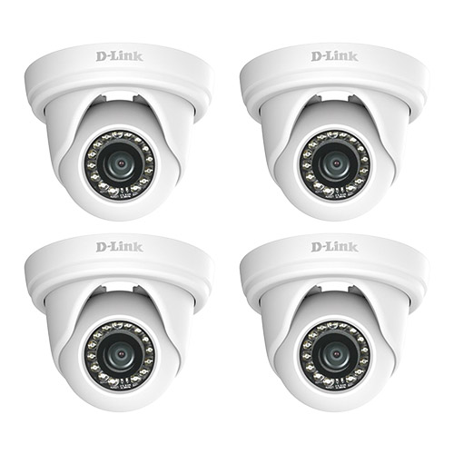 DLink 2MP Vigilance Full HD Outdoor Mini Dome Network Camera (4-Pack) 2MP Mini Dome Camera by D-Link