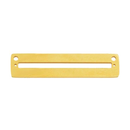 Centerline Beadable Pendant Link, with Rectangular Cutout and Holes 8x35mm, 1 Piece. Gold (Rectangular Pendant)