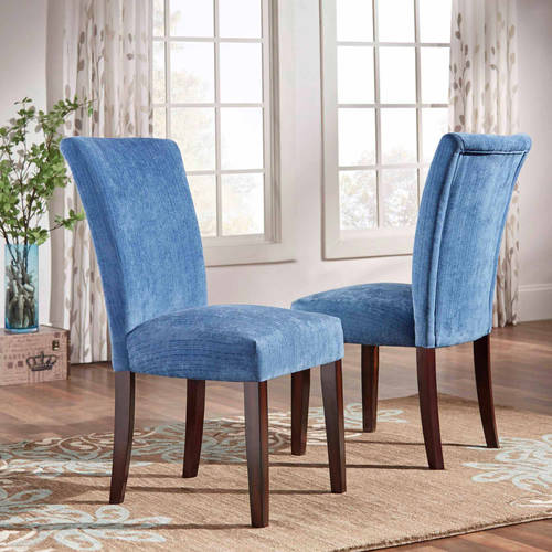 ayana chenille parson chair set of 2 multiple colors