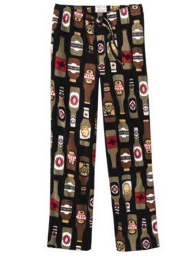 a727333cd5888 Product Image Mens Black Fleece Beer Sleep Pants Microfleece Pajama Bottoms  Small