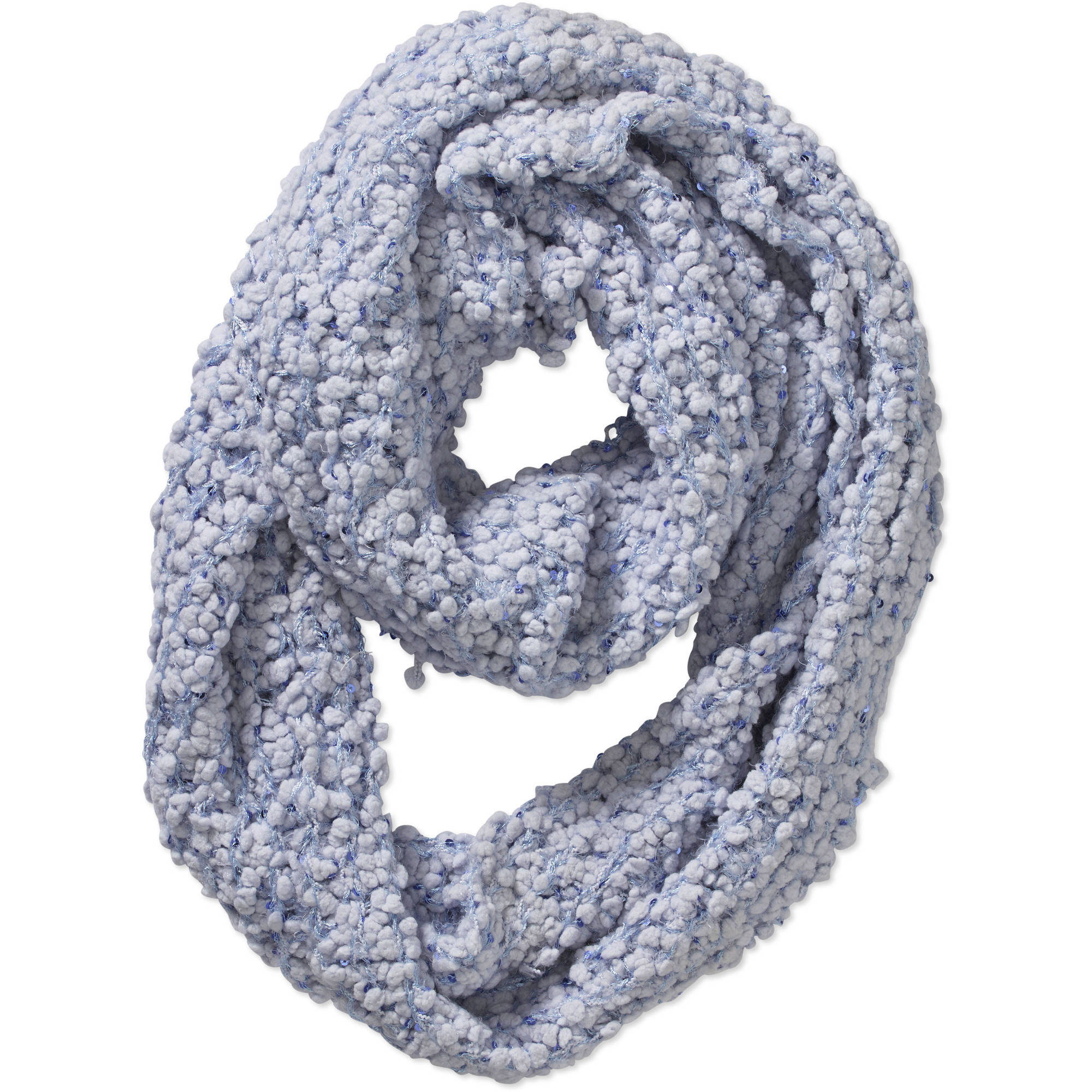 Faded Glory Women's Sequin Popcorn Infinity Scarf