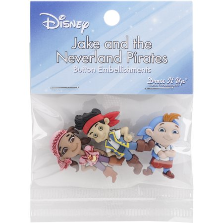 Dress It Up Licensed Embellishments-Disney Jake & The Neverland - Jake And The Neverland Pirates Halloween Movie