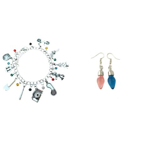 Pendant Bracelet Earrings - Stranger Things 2-Pack Bracelet & Earrings in Gift Box by Superheroes