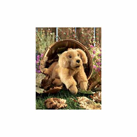 Golden Retriever Puppy Hand Puppet by Folkmanis - 2862