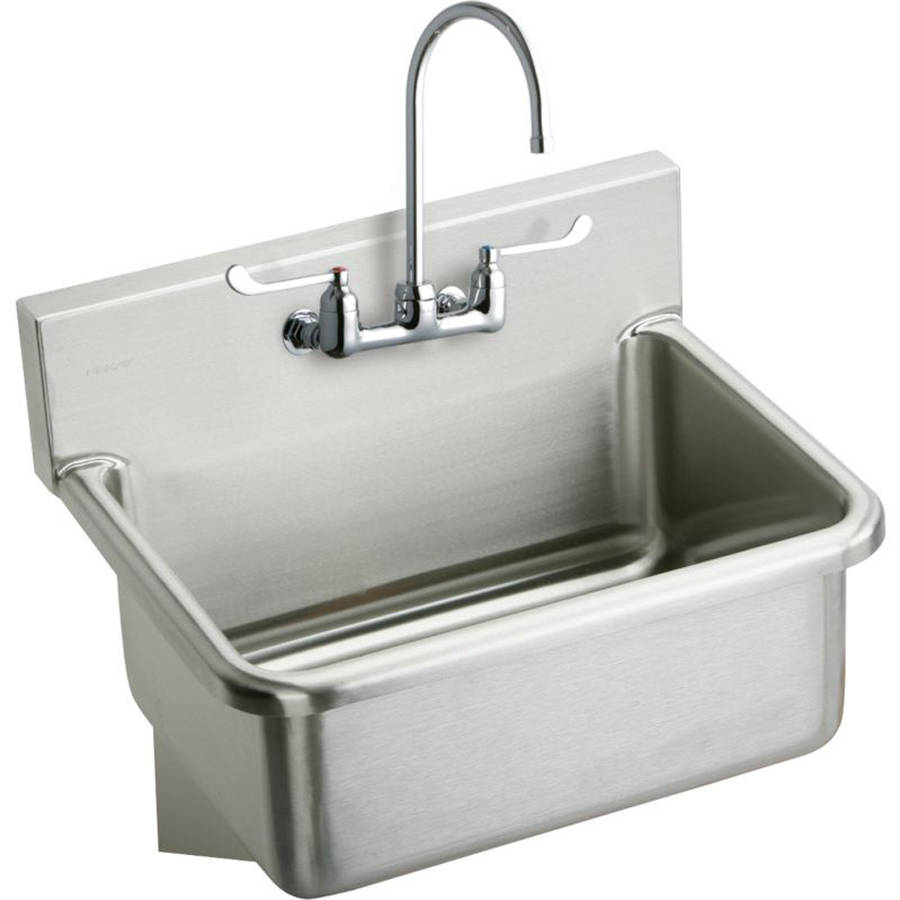 Elkay EWS3120W6C Commercial Scrub Sink Package with 2 Faucet Holes