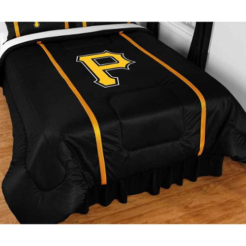 Pittsburgh Pirates Sidelines Comforter in Black (King)
