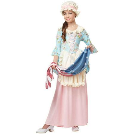 Patriotic Colonial Girl Child Halloween Costume