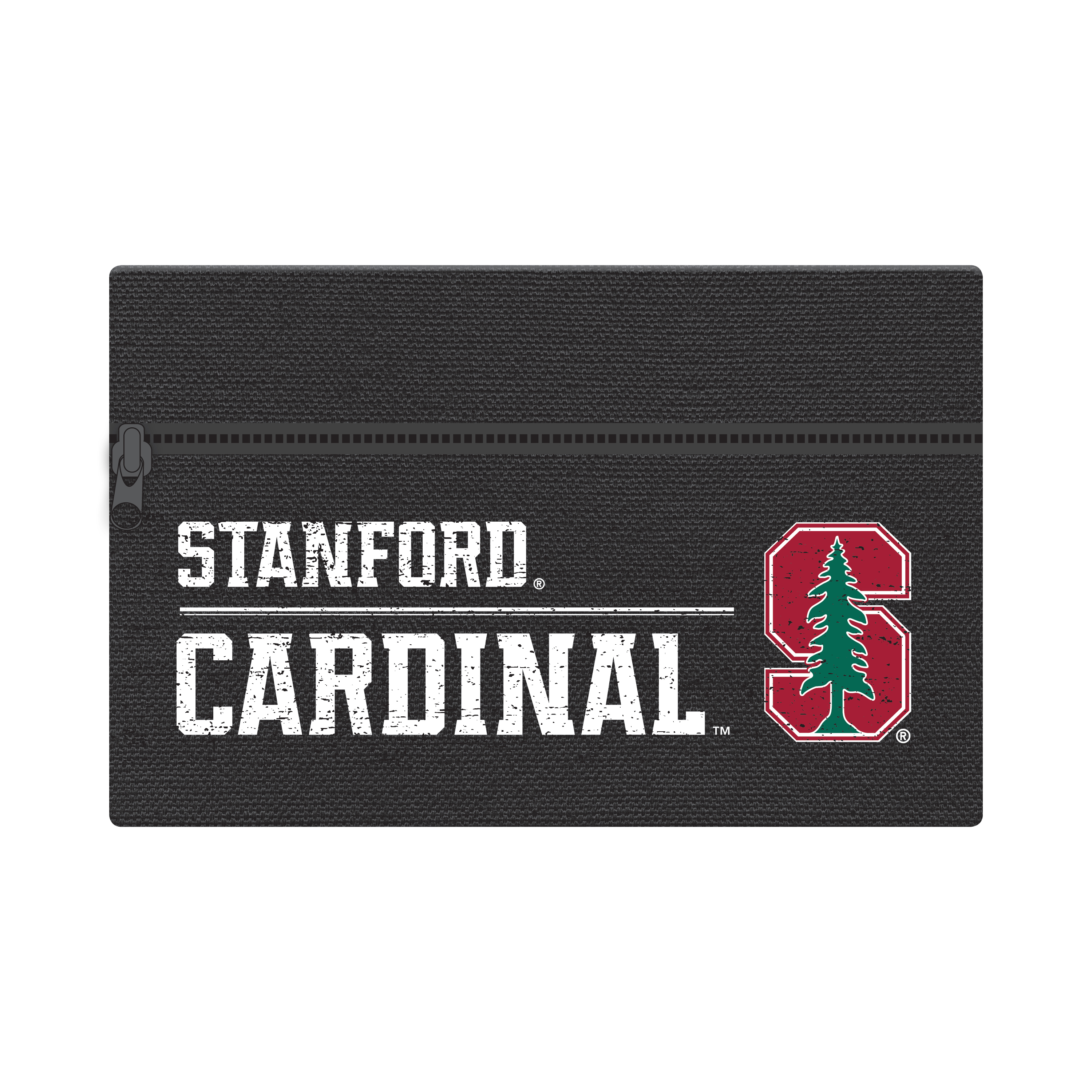 "NCAA Stanford Cardinals Zippered Cotton Canvas Pencil Pouch, 7.5"" by 4.625"""