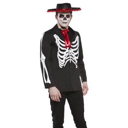 Lip Service Day of The Dead Goth Punk Skeleton Mens Halloween Costume (Day Of The Dead Men Halloween)