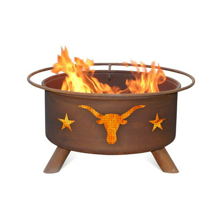 Patina Products Texas Longhorn Steel Wood Burning Fire pit
