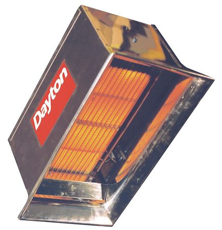 Commercial Infrared Heater, Dayton, 3E460