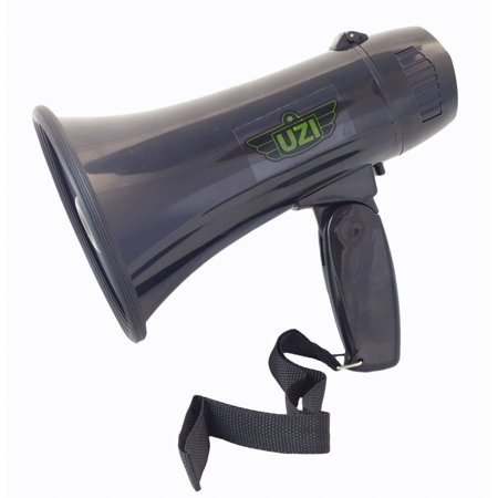 UZI Ultra Mini Megaphone Rated 10W/ MAX 15W with Recording and Repeat Playback,part no.UZI-MP-204R., 15-watt megaphone with an Adjustable.., By CampCo](Megaphone Mini)