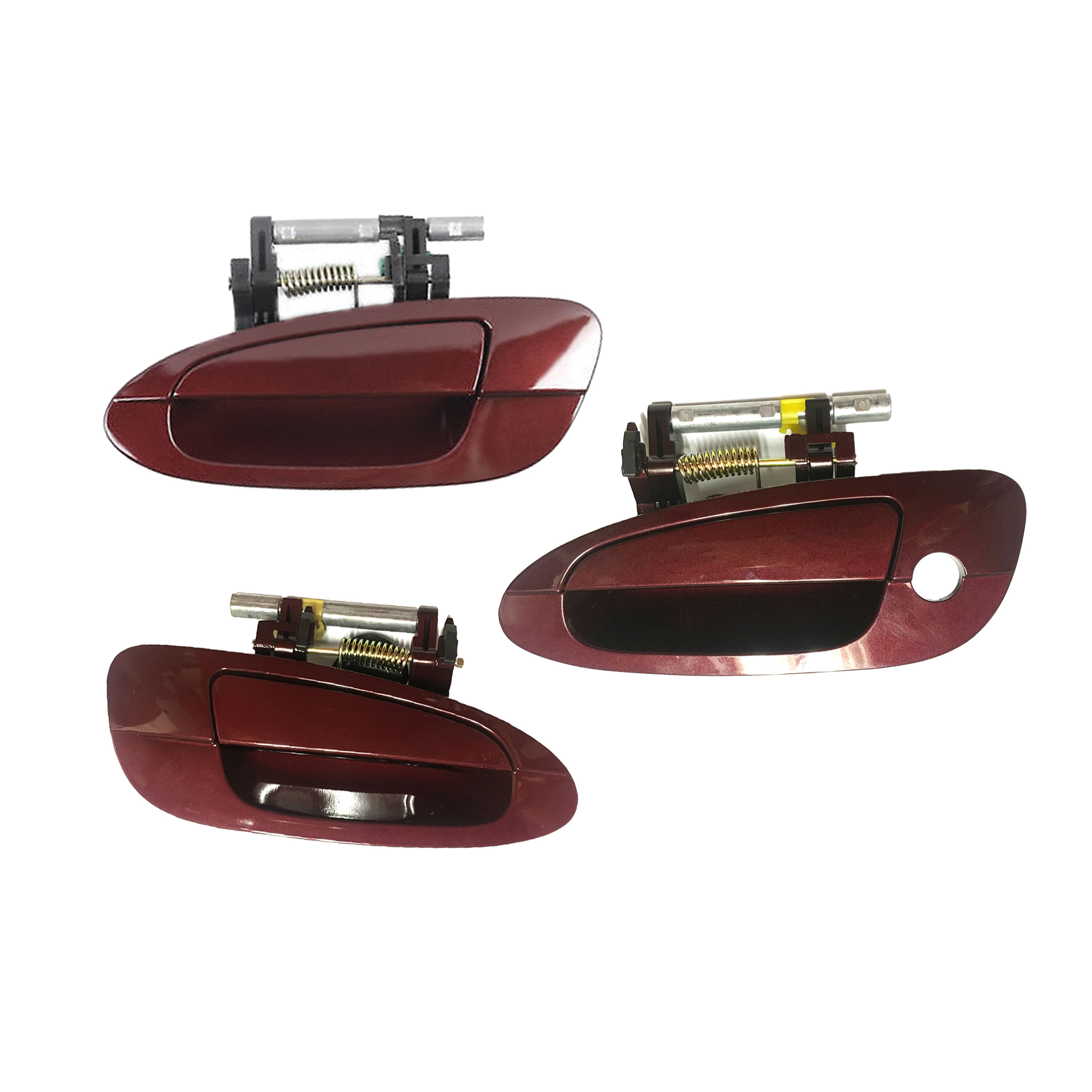 Brand NEW For 2002-2006 Nissan Altima Sparkle Red A15 Exterior Outside Door Handle Front and Rear Left 3PCS SET 02 03 04 05 06