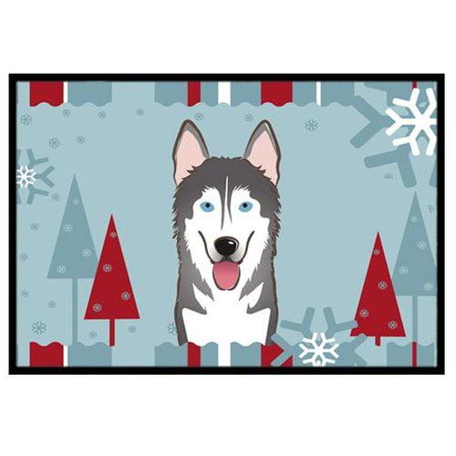 Winter Holiday Alaskan Malamute Doormat by Caroline's Treasures
